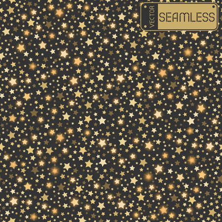 grey background texture: Golden abstract shining falling stars seamless texture grey background. Gold, festive, luxury or network graphic design concept. Vector illustration