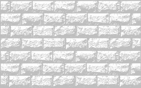 black wall: Vector realistic texture of white brick wall. Vector illustration