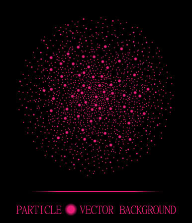 atomic explosion: Abstract shpere of pink glowing light particles space black background. Atomic explosion technology design. Style background for presentation, cards, scientific and jewelry design.