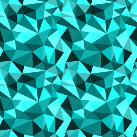 rumpled: seamless turquoise abstract geometric rumpled triangular graphic background. Digital vector illustration