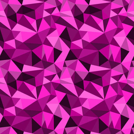 rumpled: seamless pink abstract geometric rumpled triangular graphic background. Digital vector illustration