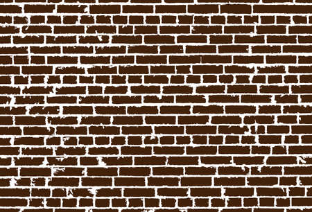 old brick wall: Vector texture of realistic brown old brick wall. Vector illustration