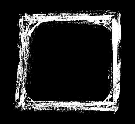 to drown: Vector mano ahogar el viejo marco blanco y negro pintado. ilustraci�n vectorial