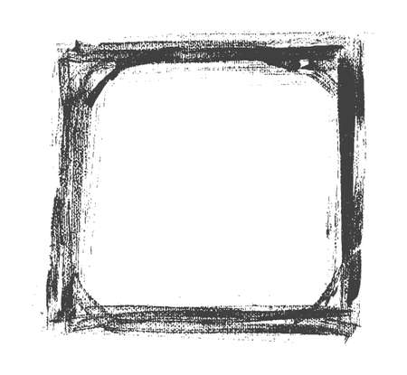 ahogarse: Vector hand drown old painted black and white frame. Vector illustration
