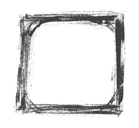 ahogarse: Vector mano ahogar el viejo marco blanco y negro pintado. ilustraci�n vectorial
