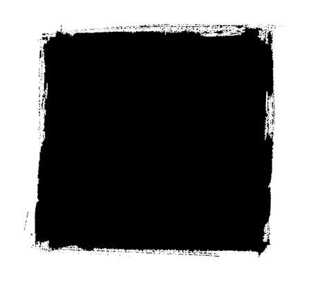 ahogarse: Vector mano ahogar el viejo marco blanco y negro pintado. ilustración vectorial