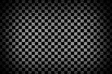 contrasted: Grey revetment wall putty high contrasted with vignetting effect macro texture background chess styled Stock Photo
