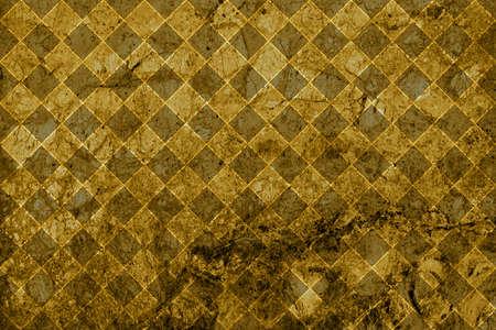 expensive granite: Texture of gold marble slab macro rhombus styled Stock Photo