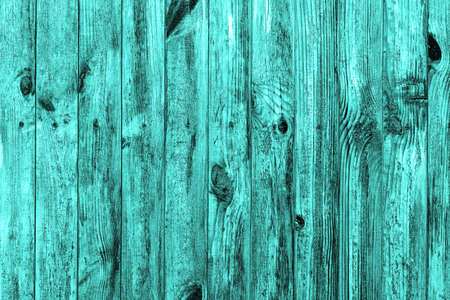 Wall of turquoise wood texture background macro