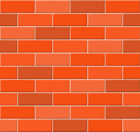 drown: Cartoon hand drown multicolored seamless brick wall texture. Vector illustration
