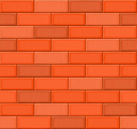 drown: Cartoon hand drown multicolored realistic seamless brick wall texture. Vector illustration