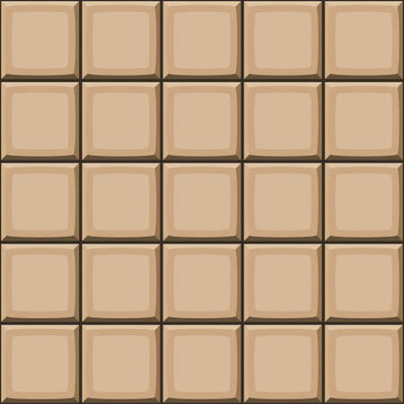 drown: Cartoon hand drown beige seamless tiles texture. Vector illustration