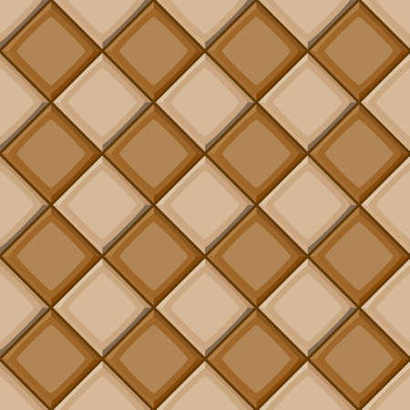 drown: Cartoon hand drown beige and brown diagonal seamless tiles texture. Vector illustration Illustration