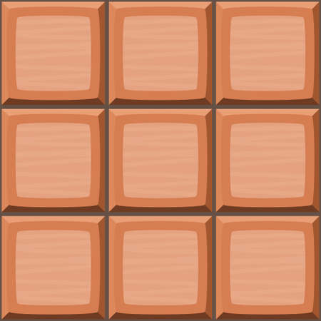 drown: Cartoon hand drown orange seamless decorative tiles texture. Vector illustration Illustration