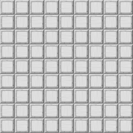 drown: Cartoon hand drown grey seamless decorative old tiles texture. Vector illustration Illustration