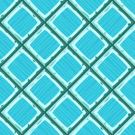 ahogarse: Mano de la historieta se ahogan cian diagonal de edad baldosas sin fisuras textura. ilustración vectorial
