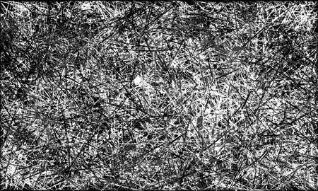 scratched: Black and white abstract scratched grunge background Stock Photo