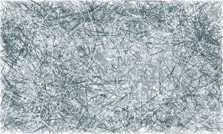 scratched: Vector grey and blue abstract scratched grunge background