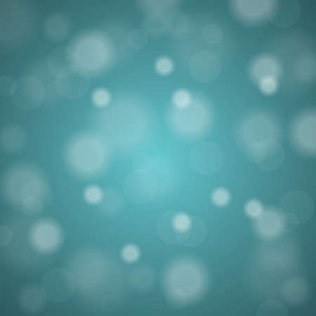 de focused: Abstract blurred background of turquoise shiny Christmas tree decorations
