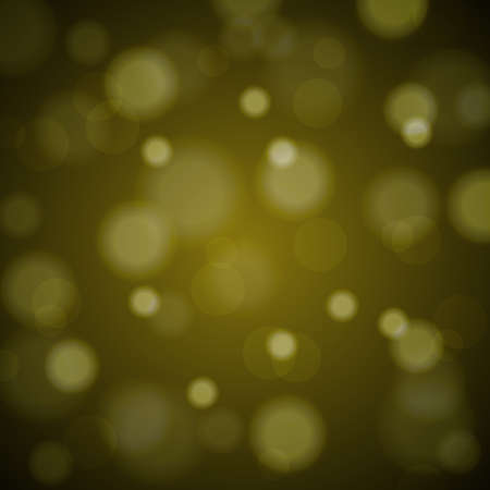 de focused: Abstract blured background of tender golden shiny Christmas tree decorations