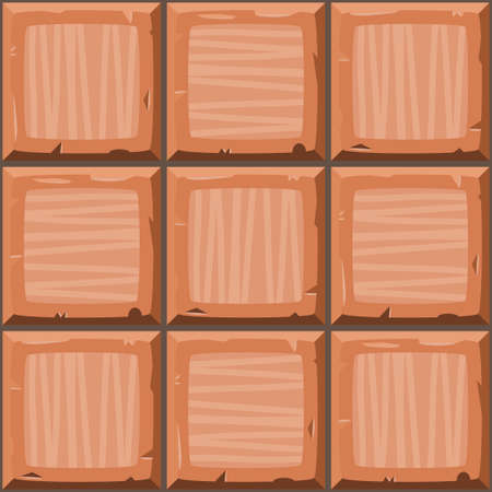 drown: Cartoon hand drown orange seamless decorative old tiles texture