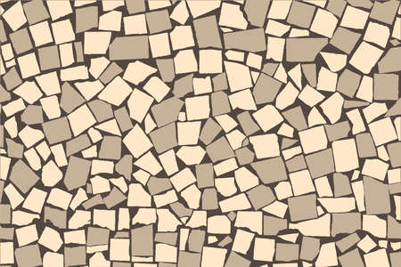 paving stone: Texture of ivory and grey two colored asymmetric decorative tiles wall Stock Photo