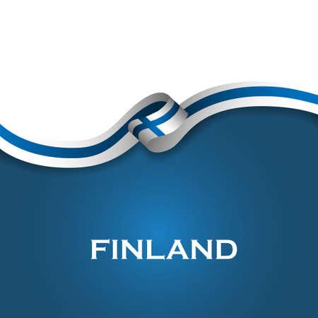 Finnland Sport Stil Flagge Band klassischer Stil. Vector Illustration