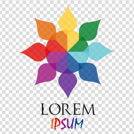 Abstract rainbow flower geometric logo template isolated. Business abstract icon. Use for logo, sign, symbol, web, label, icon. Vector illustration