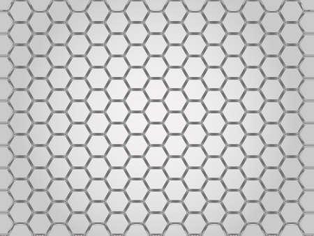 chrome: Steel chrome cells background. Vector illustration