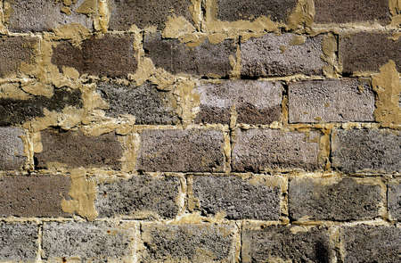 contrasted: Contrasted brickwork detailed texture background - stock photo Stock Photo