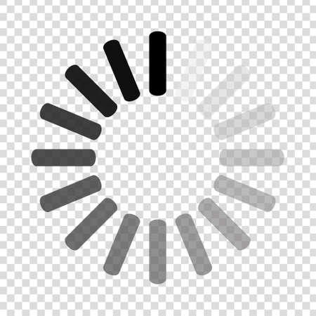 Downloadteken op transparante achtergrond. Laad icoon. Gegevens laden bar. Vector stock illustratie