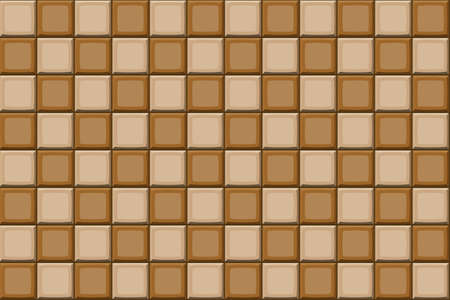 drown: Cartoon hand drown beige and brown seamless tiles texture. Vector illustration