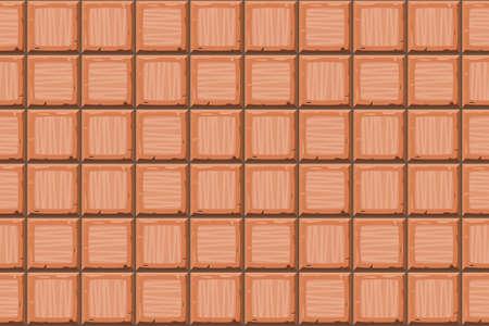 drown: Cartoon hand drown orange seamless decorative old tiles texture. Vector illustration
