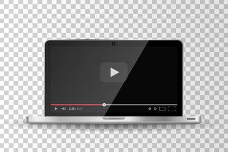 Realistic Modern Flat 4k TV Monitor Isolated On Black