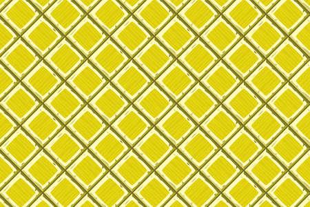 Cartoon hand drown yellow old diagonal seamless tiles texture
