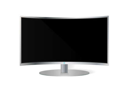 hd: Realistic curved TV monitor isolated