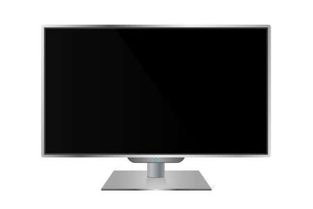 Realistic modern TV monitor isolated Stock Photo