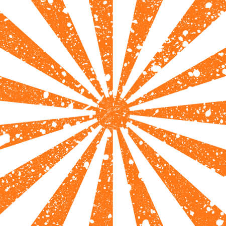 Scratched grunge background in form of sun rays. Vector illustration