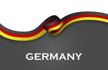 ドイツ スポーツ スタイル フラグのリボン クラシック スタイル。  イラスト・ベクター素材