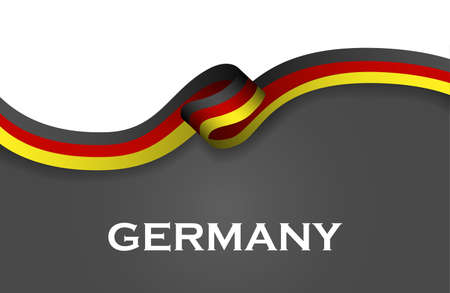Germany sport style flag ribbon classic style. Illustration