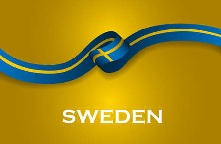 Sweden luxury style flag ribbon classic style