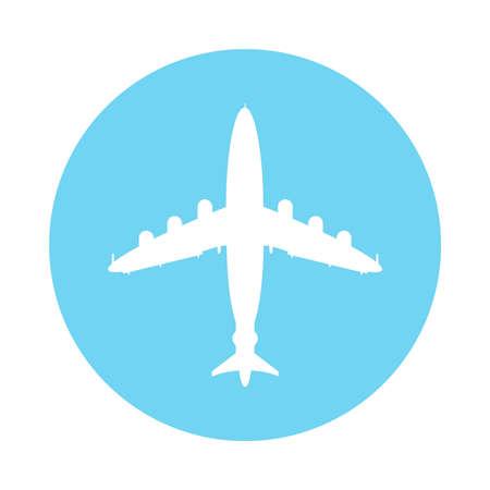 Airplane travel logo concept. Flight icon.