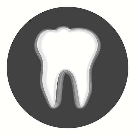 Dent icon. Tooth logotype. Dental office logo. Illustration
