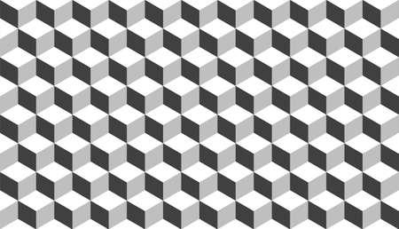 3D realistic grey square pattern. Medern cube texture. Geometric symmetry background. Vector illustration 矢量图像