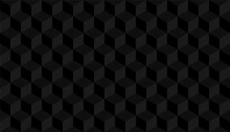 3D realistyczny czarny kwadratowy wzór. Medern sześcian tekstury. Tło symetrii geometrycznej. Ilustracja wektorowa Ilustracje wektorowe