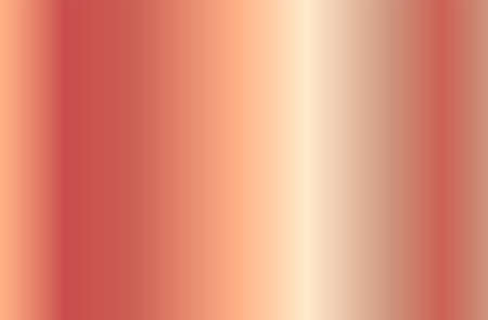 Realistic rose gold gradient texture. Shiny golden pink metal foil gradient. Vector illustration Illustration