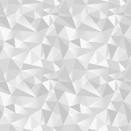 White abstract gradient geometric rumpled triangular seamless low poly style vector illustration graphic background. Rampled paper style background. Vector illustration Векторная Иллюстрация