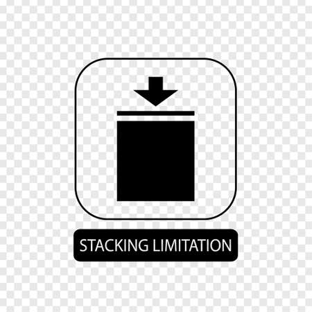Stacking limitation sign. Flat packaging symbol. Mail box icon isolated on transparent background. Mail icon. Vector illustration