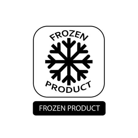 Frozen product sign. Flat packaging symbol. Mail box icon isolated on white. Vector illustration