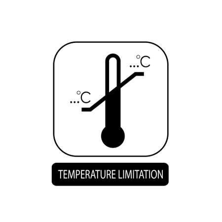Temperature limitation sign. Flat packaging symbol. Mail box icon isolated on white. Vector illustration